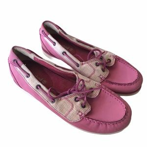 Timberland Pink & Tan Women's Boat Loafers 7.5